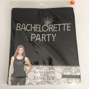 WOMEN'S BACHELORETTE PARTY TANK TOP - BLK